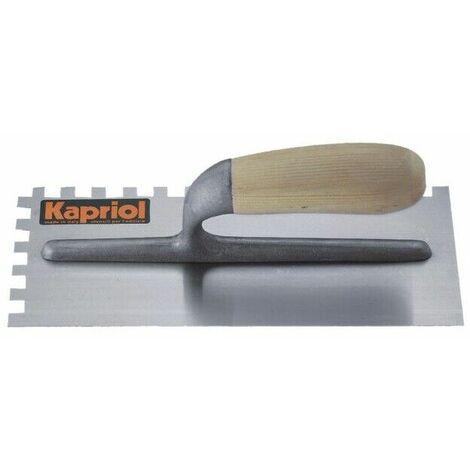 Frattazzo frattone acciaio dentato manico legno 280x120 utensile kapriol