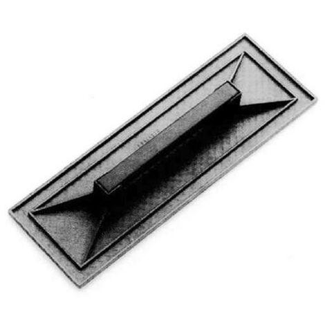 Frattazzo in plastica piano zigrinato Nero 42x26 cm