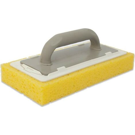 Frattazzo per pulizia in gomma spugna 29x14x4 h cm Giallo