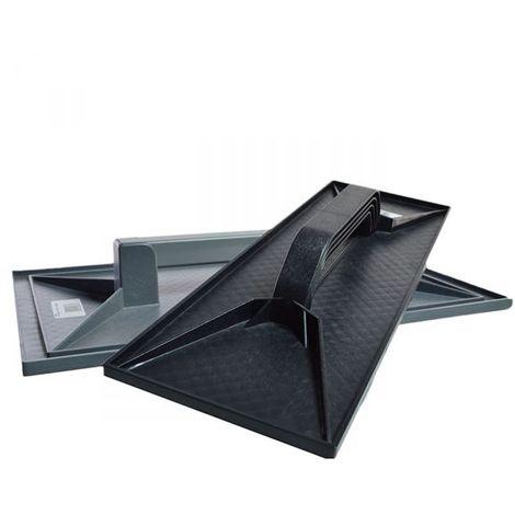 FRATTAZZO PLASTICA FRATTONE IN PLASTICA PER RIFINITURE 140x440 mm COLORE NERO