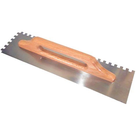 Frattone Americano dentato a due mani rettangolare cm 48,2 x cm 12,8 dente mm 10x10