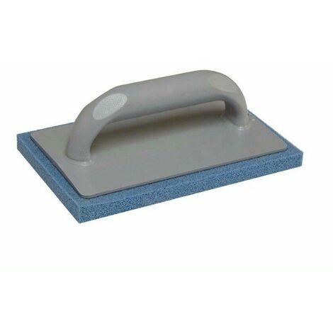 Frattone frattazzo in gomma spugna blu 22x14 supporto in plastica