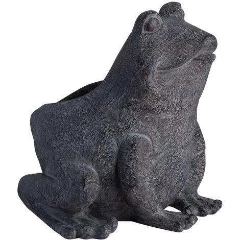 Freddie The Frog Plant Pot Holder (One Size) (Grey)