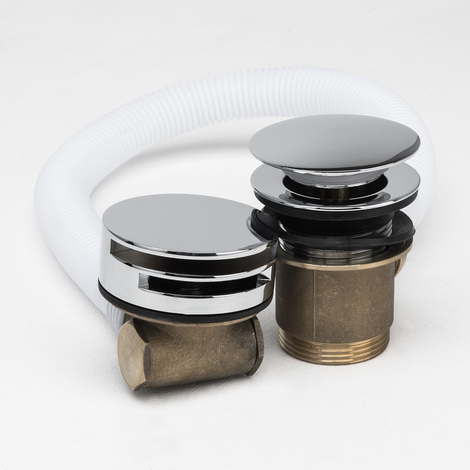 Free Flow Bath Filler with Push Waste & Overflow