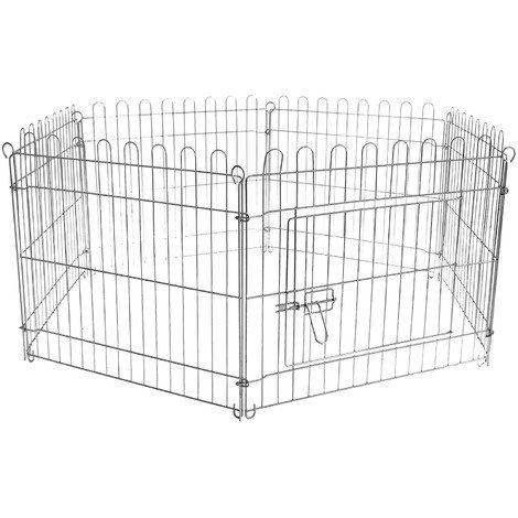 Free run enclosure Pen Puppy pen 6 pcs 70x91 cm per element