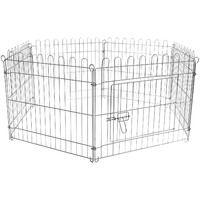 Free run enclosure Pen Puppy pen 6 pcs 70x91 cm per element