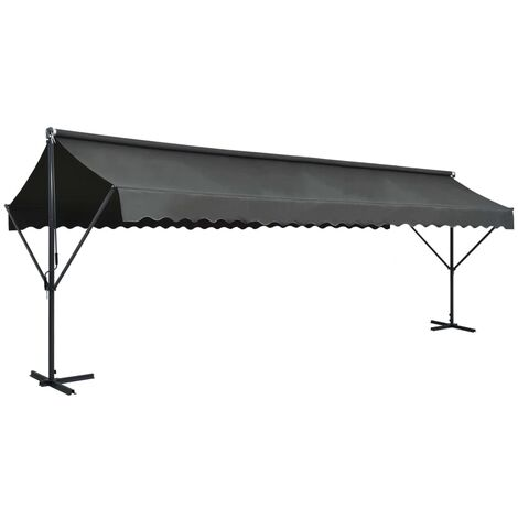 Free Standing Awning 600x300 cm Anthracite