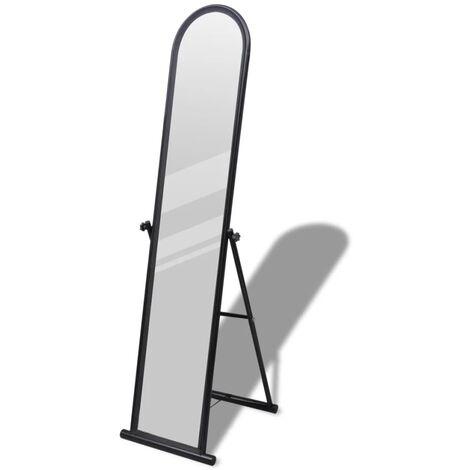 Free Standing Floor Mirror Full Length Rectangular Black - Black