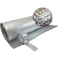 FREE TAPE  1.2m X 15m DOUBLE FOIL INSULATION ALUMINIUM BUBBLE LOFT CARAVAN WALL