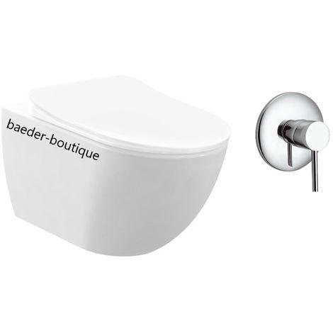 FREE Wand WC Spülrandlos mit Bidetfunktion und Kalt- und Warmwasser