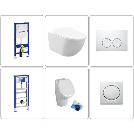 Free Wand WC spülrandlos mit Urinal Geberit Set