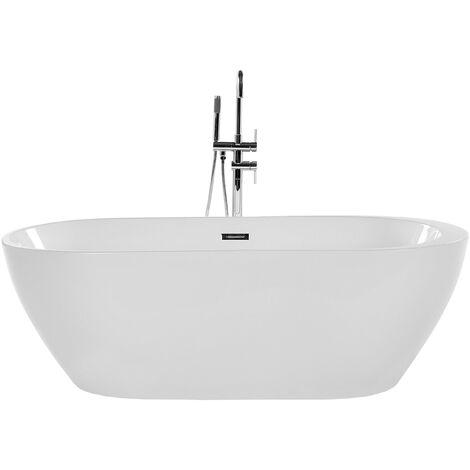 Freestanding Bath 170 cm White NEVIS