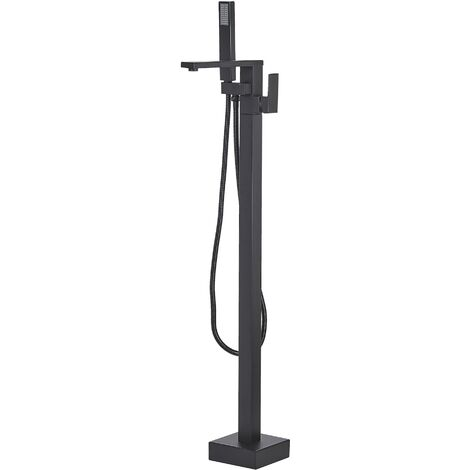 Freestanding Bath Mixer Tap Black DELLA