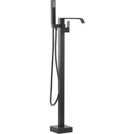 Freestanding Bath Mixer Tap Black NIAGARA