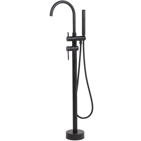 Freestanding Bath Mixer Tap Black TUGELA