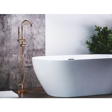 Freestanding Bath Mixer Tap Copper TUGELA