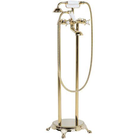 Freestanding Bath Mixer Tap Gold HEBBE
