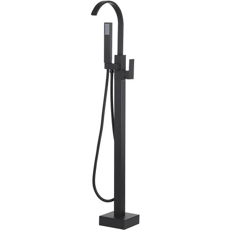 Freestanding Bath Shower Mixer Tap Black RIBBON