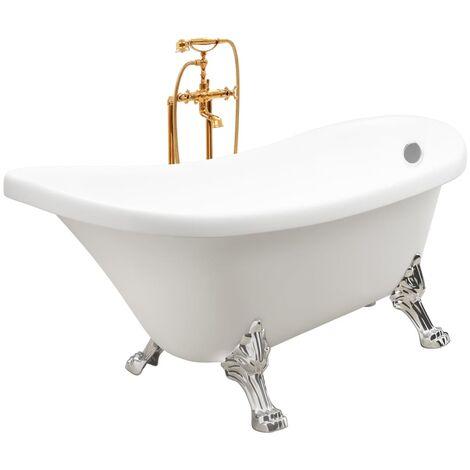 Freestanding Bathtub and Faucet 204 L 99,5 cm Gold