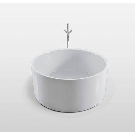 FREESTANDING BATHTUB MODERN DESIGN BATH TUB Crystal+faucet diameter 134 cm NEW