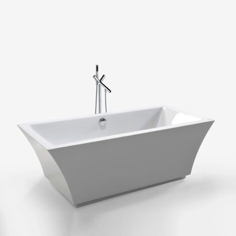 FREESTANDING BATHTUB MODERN DESIGN BATH TUB Susan+faucet 170 x 80 cm NEW