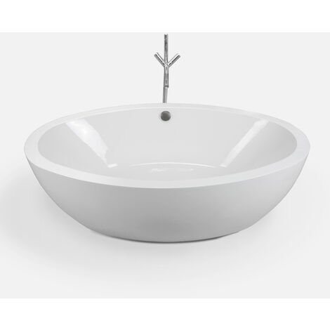 FREESTANDING BATHTUB MODERN DESIGN BATH TUB Tiffany+faucet 190 x 120 cm NEW