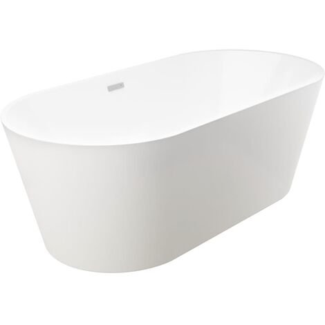 Freestanding Bathtub White Acrylic 220 L