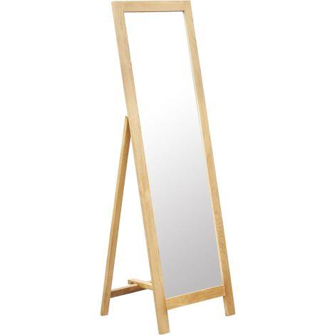 Freestanding Mirror 48x46.5x150 cm Solid Oak Wood