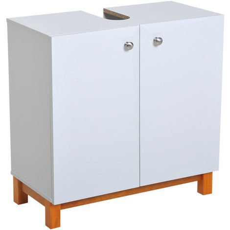Terrific Freestanding Wooden Bathroom Under Sink Cabinet Storage Download Free Architecture Designs Sospemadebymaigaardcom