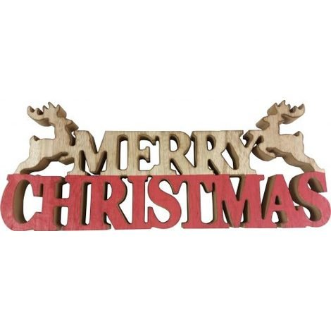 Christmas Signs.Freestanding Wooden Merry Christmas Sign
