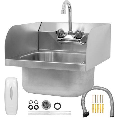 Fregadero cocina acero inox cuenco lavabo cocina restaurante pila con grifo