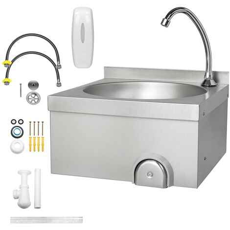 Fregadero cocina acero inox cuenco lavabo industrial restaurante pila cuenco 15L