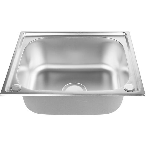 Fregadero de cocina cuadrado - Fregadero de cocina fregadero de acero inoxidable 1 tazón - 50 * 40 * 20 CM
