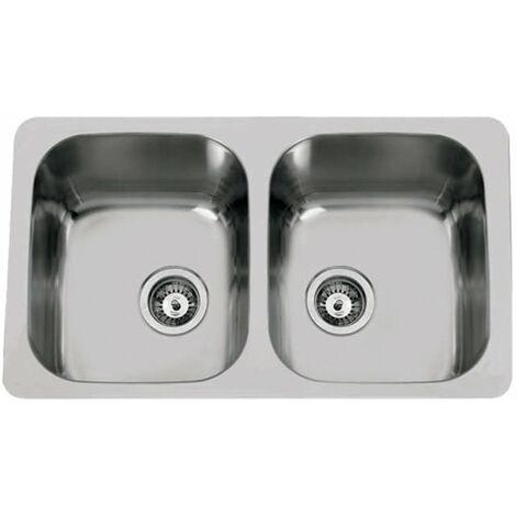 Fregadero de cocina de dos senos modelo Dúo 80 de Rodi 76X45CM