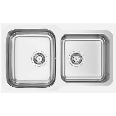 Fregadero de cocina de dos senos modelo Dúo 9r0 de Rodi 76X45CM