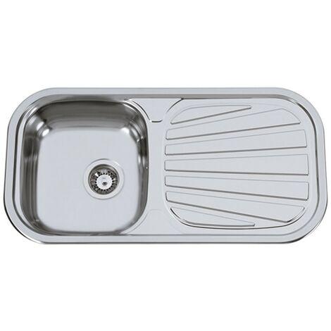 Fregadero de cocina de un seno con escurridor modelo Sevilla Flat de Rodi 86X43CM
