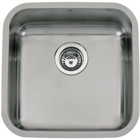 Fregadero de cocina de un seno modelo Bahia de Rodi 44X44CM bajo encimera