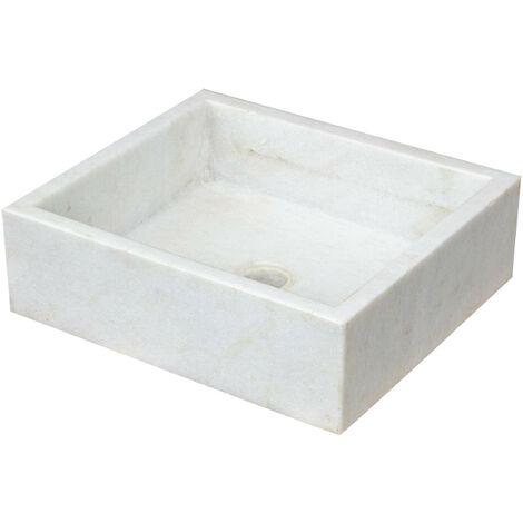 Fregadero de marbre blanco