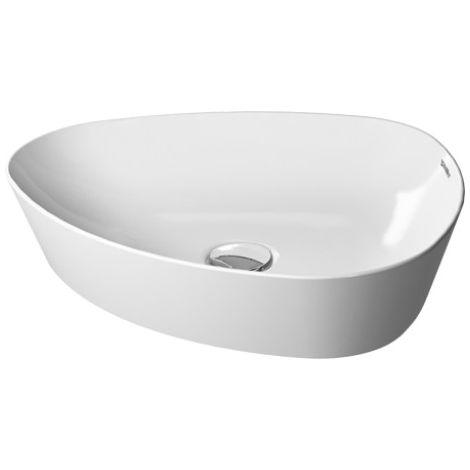 Fregadero Duravit Cape Cod 500 mm, sin agujero para grifo, sin rebosadero, color: Color interior blanco, color exterior blanco, con Wondergliss - 23395000001