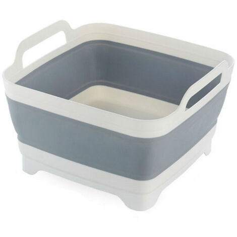 "main image of ""Fregadero plegable, con mango de tapon de drenaje, cuenco de lavado plegable, recipiente de agua plegable"""