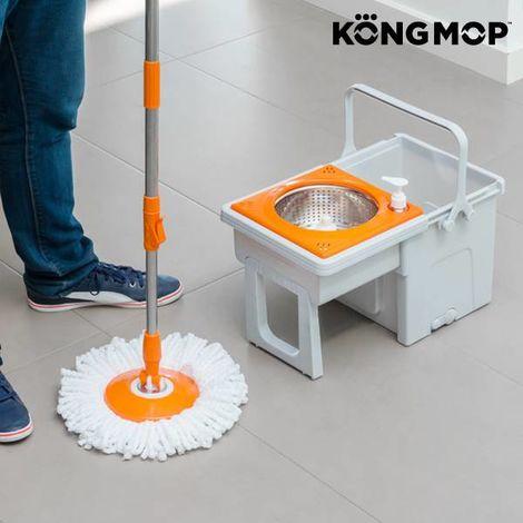 Fregona Giratoria Con Cubo Deslizante Kong Mop Easy
