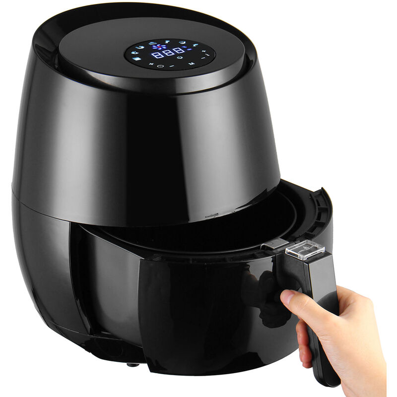 Freidora de aire eléctrica 5.2L LCD sin aceite 1400W 200 ° C
