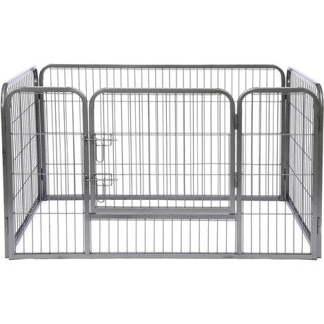 Freilaufgehege Welpen Gitterfreilauf Katzen Stellmaß 125x80x70 cm