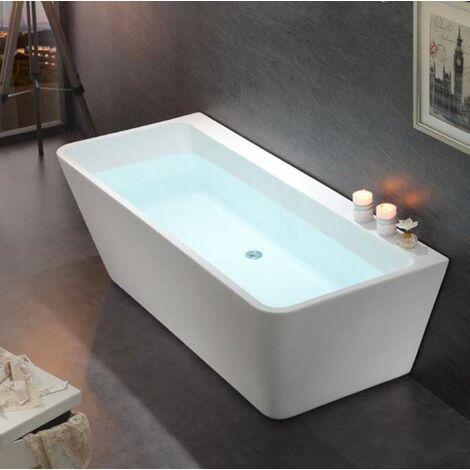 Freistehende Badewanne Acryl VENEZIA weiß - 170 x 80 cm