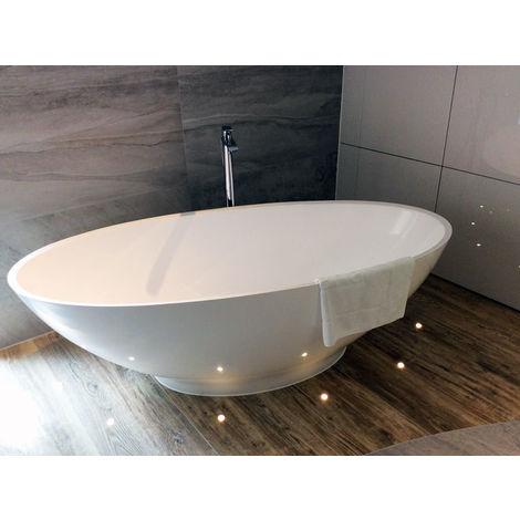 Freistehende Badewanne Barletta aus Mineralguss in glänzend von Bädermax