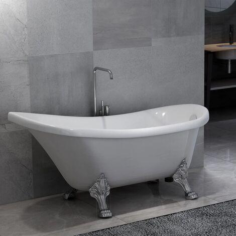 Freistehende Badewanne mit Löwenfüßen Weiß Acryl