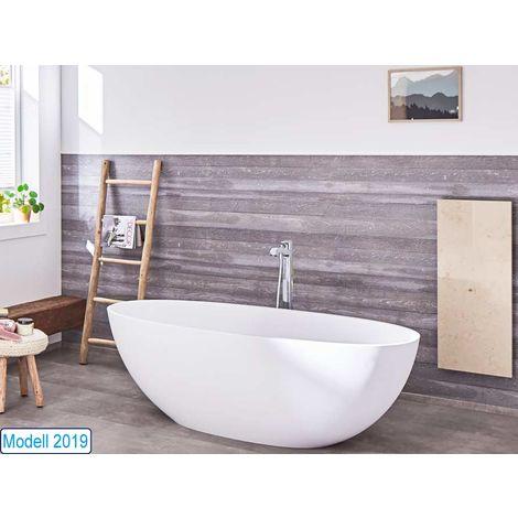 Freistehende Badewanne Piemont aus Mineralguss in glänzend von Bädermax
