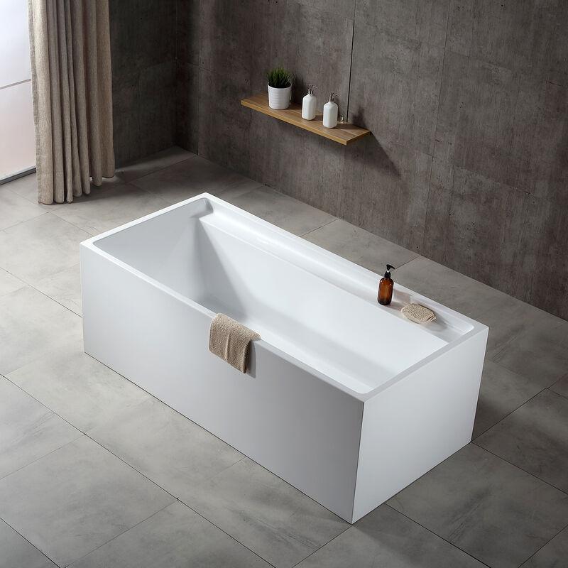 freistehende badewanne verona acryl wei 170 x 80 x 60 cm standarmatur w hlbar ohne
