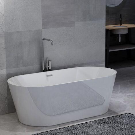 Freistehende Badewanne Weiß Acryl 220 L