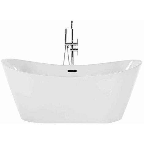 Freistehende Badewanne mit Hoher Rückenlehne Design Liberty Malta